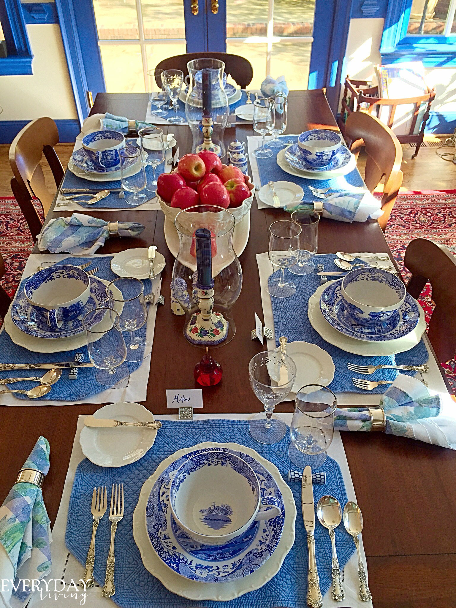 Tablescape Tuesday Blue Amp White Edition