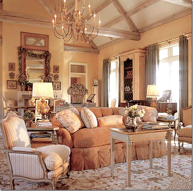 16 Stunning French Style Living Room Ideas: Designer Spotlight: Charles Faudree • It's All In The Mix